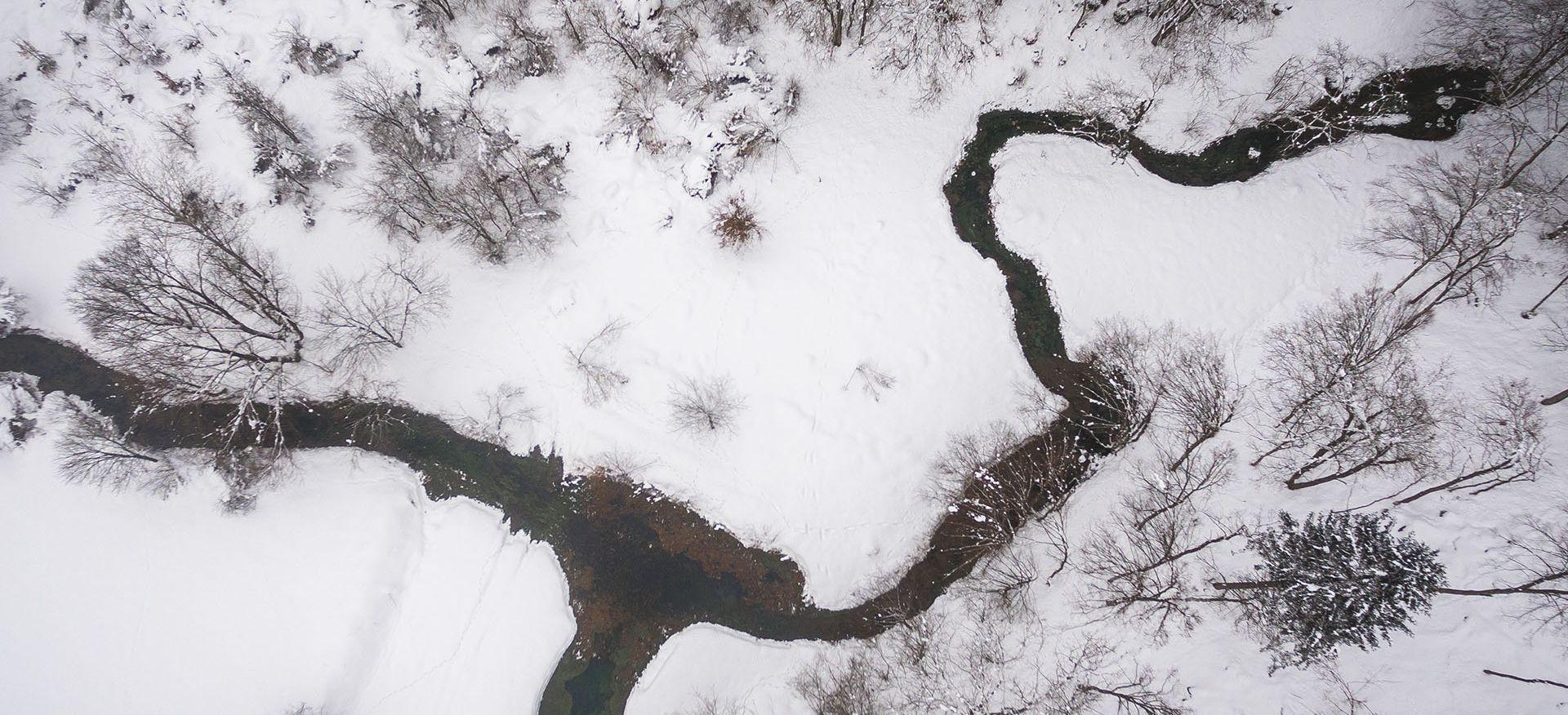 Zimska idila v Krajinskem parku Lahinja, avtor: Uroš Raztresen